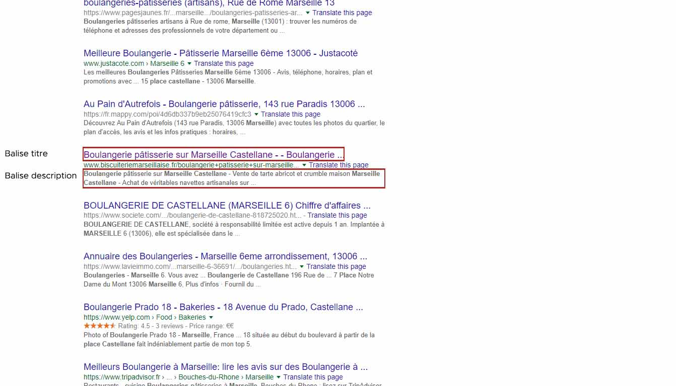 balises titre et description seo local